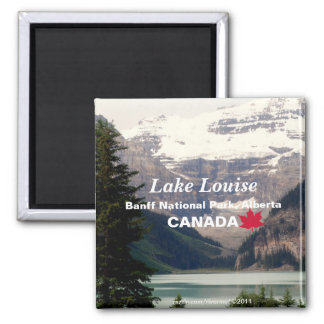 Lake Louise/Banff National Park, Alberta Canada Square Magnet