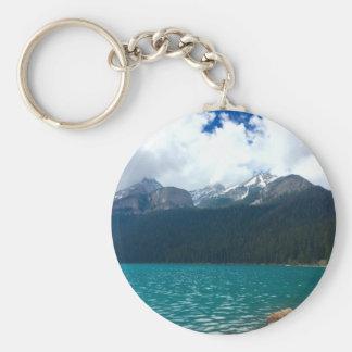 Lake Louise Canada Basic Round Button Keychain