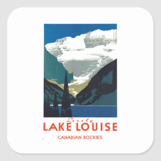 Lake Louise Canadian Rockies Canada Square Sticker