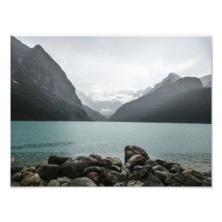 Lake Louise in the rain Photo Print