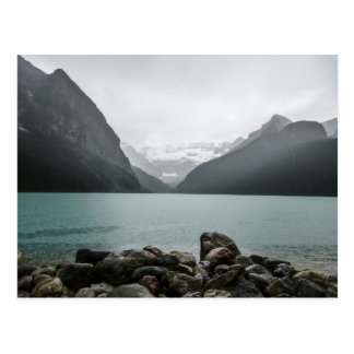 Lake Louise in the rain Postcard