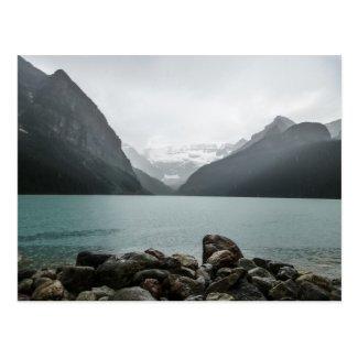 Lake Louise in the rain Postcard