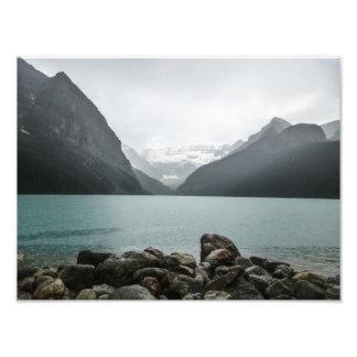 Lake Louise sous la pluie Photo Sur Toile