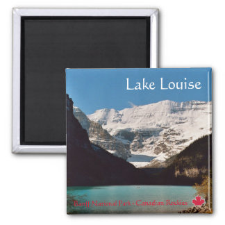 Lake Louise Square Magnet