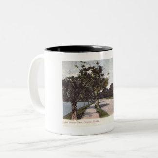 Lake Lucerne Dr., Orlando, Florida Vintage Two-Tone Coffee Mug