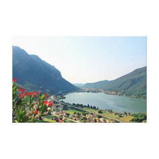 Lake Lugano  - painting Canvas Print