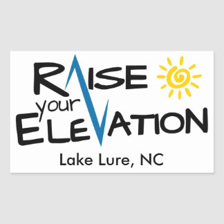 Lake Lure - Raise Your Elevation Rectangle Sticker