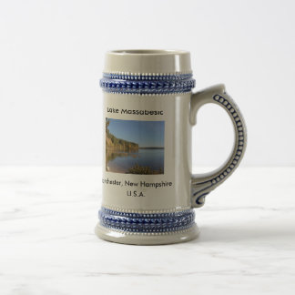 Lake Massabesic, Manchester, N.H.-CC, Lake Mass... Beer Stein
