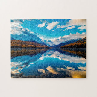 Lake McDonald Glacier Park Montana. Jigsaw Puzzle