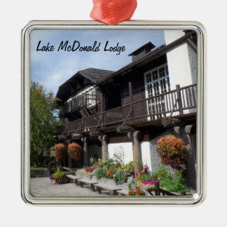 Lake McDonald Lodge- Glacier National Park Metal Ornament