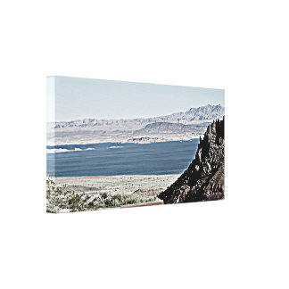 Lake Mead in Grit Custom Wall Canvas