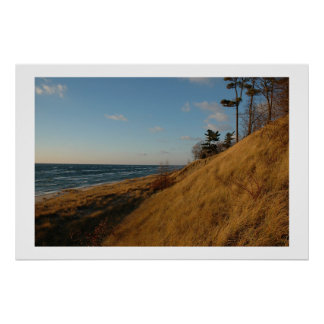 Lake Michigan Beach in Late Fall Poster