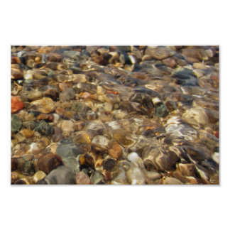 Lake Michigan Beach Rocks Poster