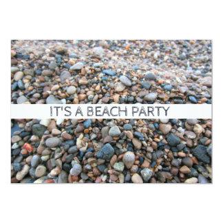 Lake Michigan Beach Rocks Pretty Shoreline Pebbles Card