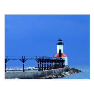 Lake Michigan Light House Postcard