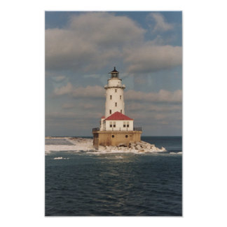 Lake Michigan Lighthouse Poster