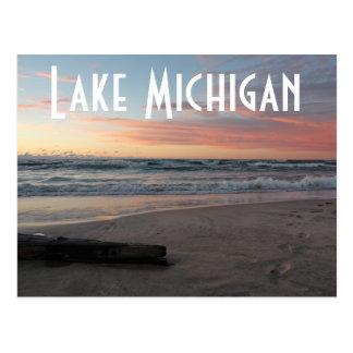 Lake Michigan Pastel Sunset Postcard