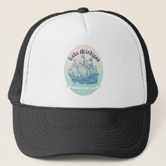Lake Michigan Sailing Ship Trucker Hat