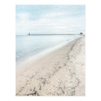 Lake Michigan Shoreline Great Lakes Postcard