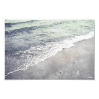 Lake Michigan Shoreline Retro Photographic Print