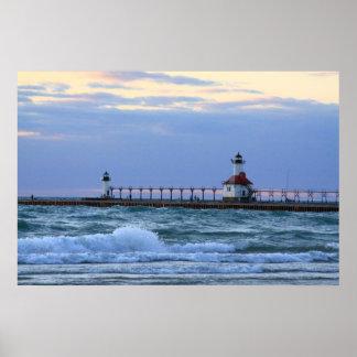 Lake Michigan St. Joe Lighthouse poster