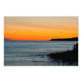 Lake Michigan Sunset, Michigan Photo Print