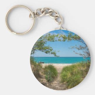Lake Michigan Tranquility Keychain