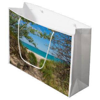 Lake Michigan Tranquility Large Gift Bag