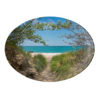 Lake Michigan Tranquility Porcelain Serving Platter