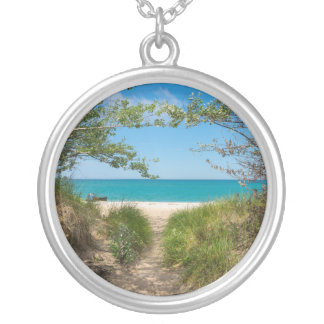 Lake Michigan Tranquility Silver Plated Necklace