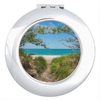 Lake Michigan Tranquility Vanity Mirror