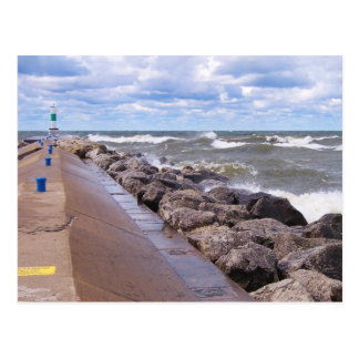 Lake Michigan Waves Postcard