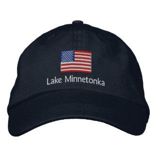 Lake Minnetonka American Flag Hat Embroidered Baseball Cap