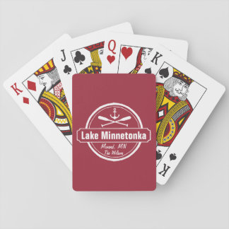 Lake Minnetonka Minnesota anchor town and name Playing Cards