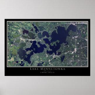 Lake Minnetonka Minnesota Satellite Poster