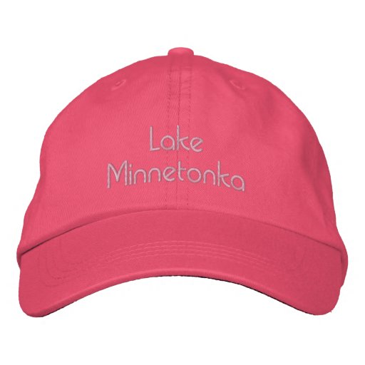 Lake Minnetonka Pink Hat Embroidered Hat