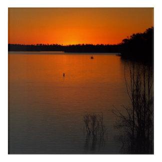 Lake Monduran sunset acrylic wall art