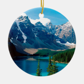 Lake Moraine Park Canada Ceramic Ornament