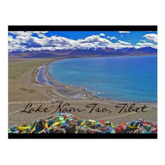 Lake Nam-Tso in Tibet Postcard