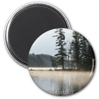 Lake of Fog 2 Inch Round Magnet