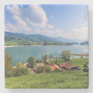 Lake of Gruyere, Switzerland Stone Coaster