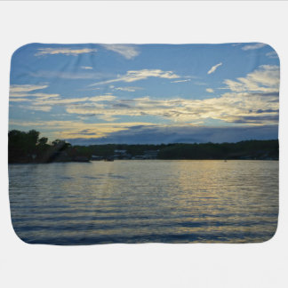 Lake Of The Ozarks Blue Sunset Baby Blanket