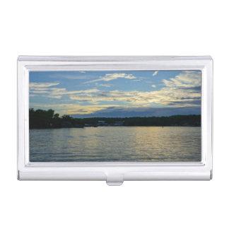 Lake Of The Ozarks Blue Sunset Business Card Holder