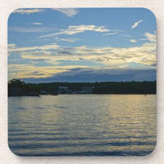 Lake Of The Ozarks Blue Sunset Coaster