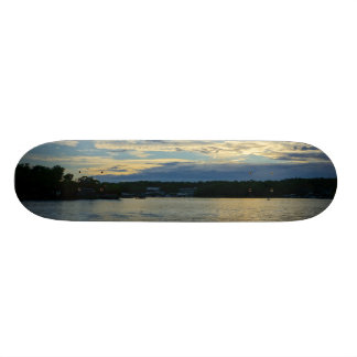Lake Of The Ozarks Blue Sunset Custom Skate Board