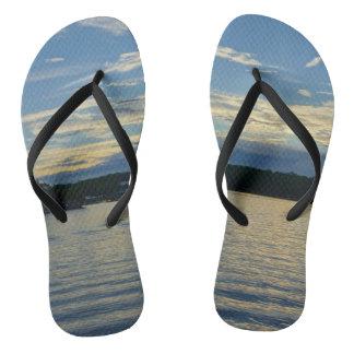 Lake Of The Ozarks Blue Sunset Flip Flops