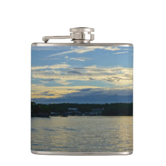 Lake Of The Ozarks Blue Sunset Hip Flask