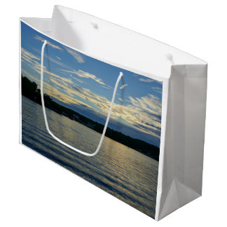Lake Of The Ozarks Blue Sunset Large Gift Bag
