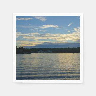 Lake Of The Ozarks Blue Sunset Paper Napkin