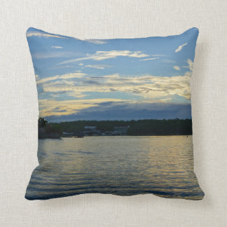 Lake Of The Ozarks Blue Sunset Throw Pillow